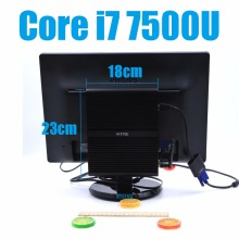 i7 7500U Kaby Lake Intel Core i7 Barebone 7500U Fanless Gaming Mini PC Windows Linux HTPC TV Box UHD 4K Micro Desktop Computer