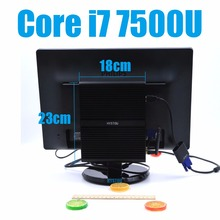 i7 7500U Kaby Lake Intel Core i7 Barebone 7500U Fanless Gaming Mini PC Windows Linux HTPC TV Box UHD 4K Micro Desktop Computer(China)