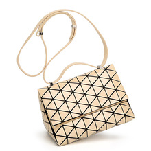 Lingge Geometric Shhhoulder Bags New Baobao Pyramids Matte Light Triangle Small Messenger Crossbody Bag Women Patchwork Handbags