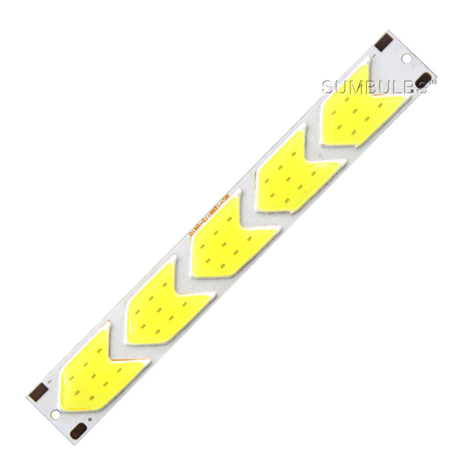 Special Shape COB LED Light Strip DC 12V 5W 6W Cold White LED Bulb with Star Grid Arrow Shape DIY Work Home Car Decor Lighting (6)
