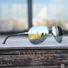 LVVKEE Luxury Aviator Polarized Men for women Rimless Sunglasses Aluminum Magnesium Brand Designer Polarized Eyewear Accessories