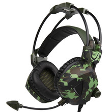 SADES SA931 Wired Stereo Surround Gaming Headset Army Green Headphones with Mic Volume Control for PC Gamer for PS4 Laptop #ET