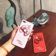 3D Pink Cartoon Hello Kitty Phone Case For Apple iPhone 6 6s Plus Cover Fundas, Bowknot Case For iPhone 7 Plus 8Plus Capa Cover