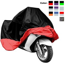 Motorcycle Cover Waterproof XL XXL Thick Oxford Cloth Motorcycle Cover UV Resistant Dust Protective Racing Bike Cover