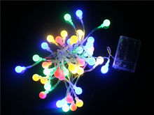 Portable 4M 28LED Small Cherry Battery Operated Little Round Ball String Light Decoration For Birthday Party String x 20pcs(China)