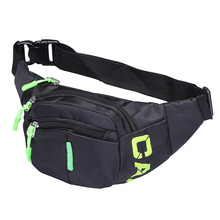 Cool Bum Waist Bag 3 Zip Pockets Travel Hiking Waist Pack Bum Bag Holiday Money Hip Pouch pack Casual Chest bag for Men