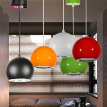 Modern minimalist LED bar lamp lights round apple fashion restaurant meal restaurant Pendant Lights ZH FG768(China)
