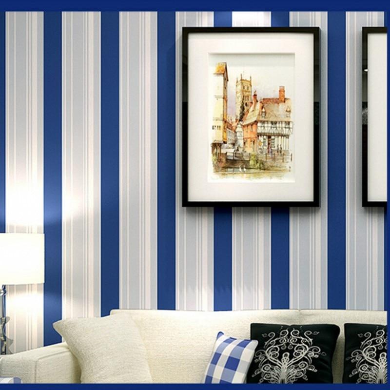 Beibehang Mediterranean 3D wallpaper striped blue wallpaper home interior wallpaper for walls 3 d papel de parede wallpaper roll<br>
