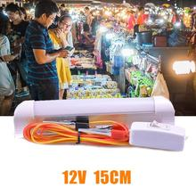 DC12V 15cm LED T8 Bulb Light Night Market Fluorescent Lamp Daylight With Switch