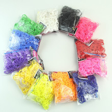 600pc/lot Hair Rubber Band Loom Refill DIY Bracelet+ Clip + Hooks cpj-008