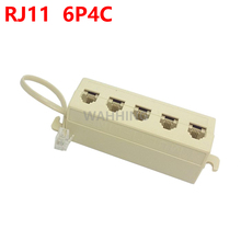 New RJ11 6P4C 1 Jack to 5 Female RJ11 Telephone Phone Cable Line Y Splitter Extension Cable Adapter Connector HY1339