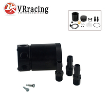 VR RACING-NEW RACING BAFFLED 3-PORT OIL CATCH CAN / TANK / AIR-OIL SEPARATOR VR-TK66