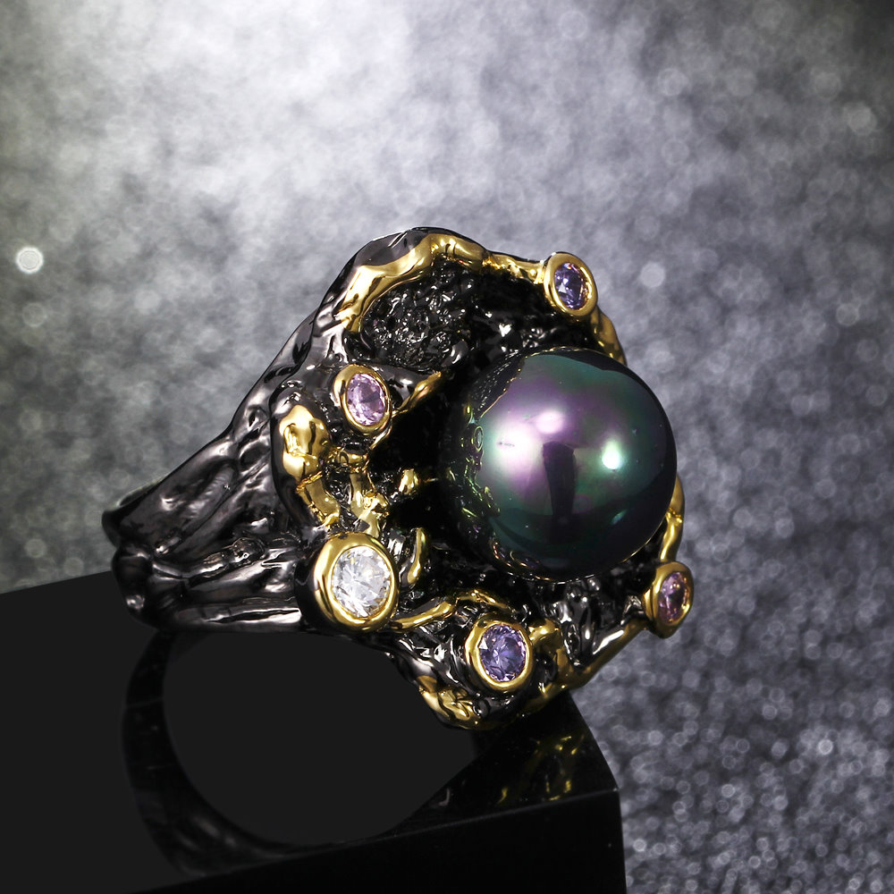 gothic pearl rings (1)