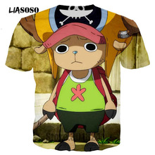 LIASOSO Newest Men T Shirt Classic Anime One Piece Joba T-shirts 3D Print Tshirt Pullover Tops Tees Shirts Brand Clothing T3259(China)
