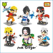 Mr.Froger LOZ DIY Blocks Bricks Naruto Action Figure Anime Figurine Japanese Model Building Kits Boruto Sasuke Assembly Toys Kid