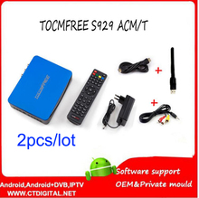 Digital satellite receiver tocomfree s929acm/t 2pcs +ISDBT+SKS IKS +USB WIFI +NEWCAM +CCCAM +POWERVU for Latin America(China)
