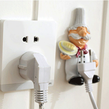 Best Sale Cook Design Storage Shelf Holder Power Plug Holders Rack Socket Wall Mounted Adhesive Hanger Kitchen Accessories(China)