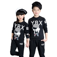 Boys Girls Clothing Set 2017 New Fashion Brand Sport Suit Sweatshirts &  Pants 4 5 6 7 8 9 10 1112 13 14 years Kids Tracksuit