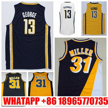 Mens #31 Retro Reggie Miller Jersey Throwback Stitched Wholesale Cheap High Quality #13 Paul George Jersey Basketball Jersey