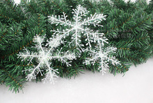 30Pcs-60pcs/lot Christmas Snow flake White Snowflake Ornaments Holiday Christmas Tree Decortions Festival Party christmas decor