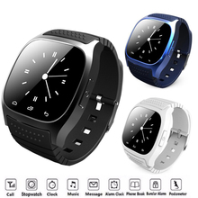 9Tong Bluetooth Smart Watch M26 with Music Player Pedometer Call SMS Remind Pedometer Wristwatch for Android OS Mobile Phone C0(China)