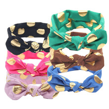 Newborn Print Floral Butterfly Bow Elastic Hair band Girls Turban Knot Headbands Children Headwear Baby Hair Accessories(China)