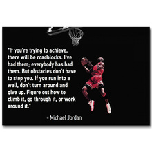 Michael Jordan Motivational Succeed Quote Art Silk Fabric Poster Print Basketball Sport Picture for Room Wall Decor 046(China)