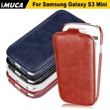iMUCA Case for Samsung Galaxy S3 Mini Vertical Flip Leather Case Cover for Samsung galaxy s3 mini I8190 Luxury Phone Cases