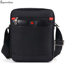 Soperwillton 2017 New Fashion Man Bag Oxford Men's Messenger Bags Famous Brand Crossbody Bag Black Travel Male Ipad Bags J87(China)