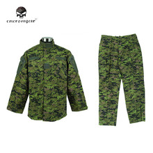 Tactical Canada Digital Camo Military Special Force Uniform Shirt and Pants Outdoor Sports Army Paintball BDU Uniform(China)