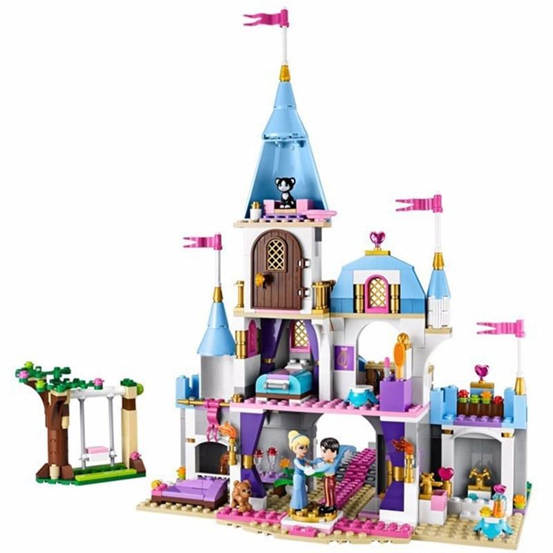 mylb Building Block Cinderella Romantic Castle Princess Friend Blocks Bricks Girl Sets Model baby Toys<br>
