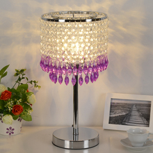 Bohemia crysta ltable lights luxury lamp red/ purple/ green /pink romantic bedroom bedside lamp wedding gift lamp ZAG