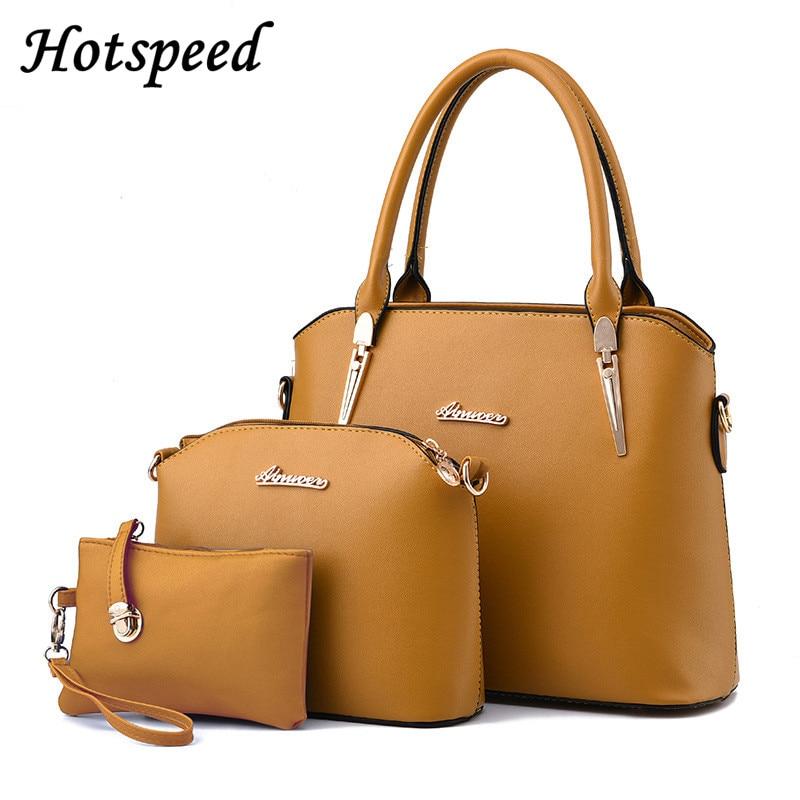 luxury handbags women bags designer Ladies Brand Designs Bag Women crystal clutch Famous Bags Handbag+Purse+Messenger Bag 3 Sets<br>