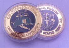 1 OZ US Army Special Forces ( Green Beret ) Challenge Coin,Facotry price,wholesales 20pcs/lot Free shipping