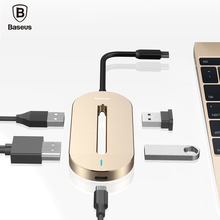 Baseus Universal HUB Type-c Converter Type C Male to HDMI USB 3.0 Type-c Female Adapter Cable For Macbook Type-c Notebook