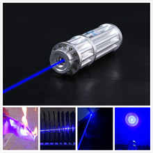 High Power - Blue Laser Pointers 20000mw 20W 450nm Burn Match/pop Balloon/Cigarettes +Changer+Gift box+Free Shipping(China)