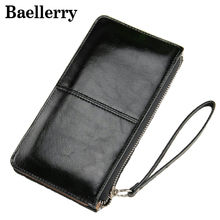New Fashion Women Wallets Oil Wax Leather Zipper Clutch Wallet Female Candy Color Purse Lady Multi-function Money Bag WWS006(China)