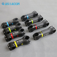 ASIACOM 6 17 Degrees 3K Full Carbon Fiber Road Bicycle Stem Mountain Bike Carbon MTB Stems Bicycle Parts 31.8*70-130mm