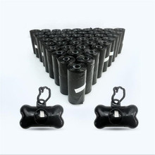 42 Rolls Dog Waste Bags with 2pcs Dispenser and Leash Clip Poop Bag Refills Shop Pet Durable Premium Bulk Refill Rolls black(China)