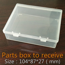Parts box collapsible rectangle Plastic Boxes Transparent Plastic Container Storage Blank Component Screw Jewelry Tool Boxes
