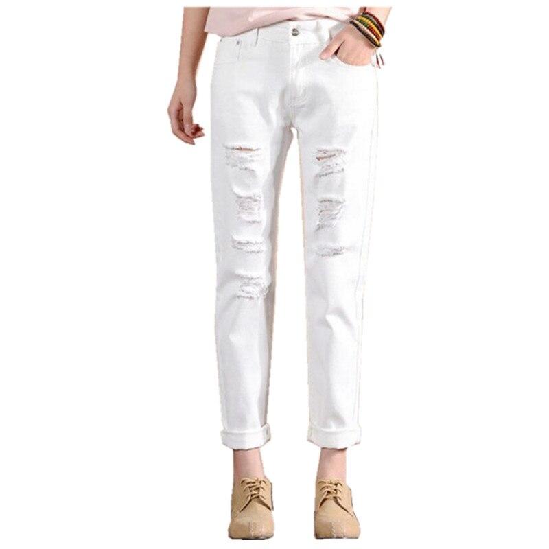 2017 Spring Big Size Jeans Women Harem Pants Casual Trousers Denim Pants Fashion Loose Vaqueros Vintage Hole White Pencil Jeans Одежда и ак�е��уары<br><br><br>Aliexpress