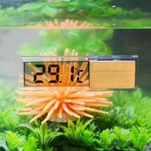 Plastic Metal 3D Digital Fish Tank Aquarium Thermometer Wired Electronic Temperature temp Gauge Meter Measuring Tools(China)