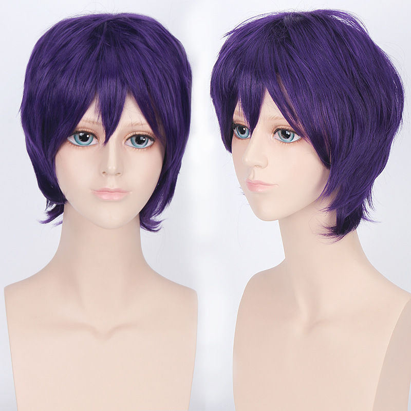 Coshome Naruto One Piece Fairy Tail Bleach Yato Cosplay Short Wig For Men Women Black Brown Yellow Red Blue Wigs (8)