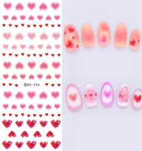 DIY New Water Transfer Stickers for Nails Beauty Harajuku Pink Hazy Hearts Nail Wraps Sticker Fingernails Decals Beauty Product