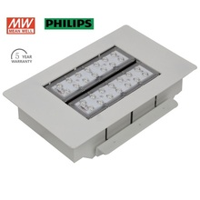 IP65 led flood light 40w PHILIP led chip Meanwell driver led gas station canopy lights 5 years warranty