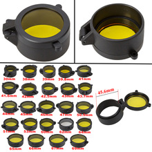 Hunting Gun Caliber Rifle Scope Quick Flip Spring Up Open Lens Cover Dustproof Cap Eye Protect Objective Cap