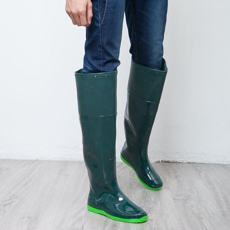 New Arrival Knee-High Rain Boots Waterproof Wellies Farmland Working Fishing Water Shoes Rainboots<br><br>Aliexpress