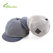 Baby Baseball Caps Summer Cotton Infant Hats Cute Casual Striped Soft Eaves Baseball Cap Baby Boy Beret Baby Girls Sun Hat(China)