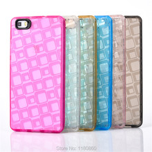 P8 LITE New 2016 Square Crystal Clear Soft TPU Silicone Case Cover For Huawei Ascend P8 lite mini cases , Mobile Phone Cases(China)