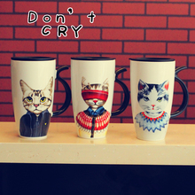 New Creative Gifts Personalized Abstract Decorative Painting Art Ceramic Cartoon C Animal Coffee Tea Milk Mug Cup Sublimation